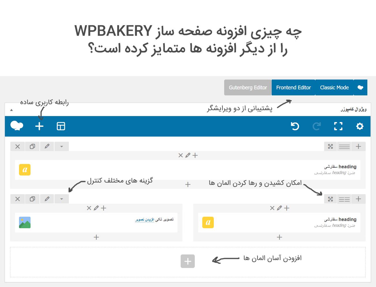افزونه ویژوال کامپوزر | WPBakery Page Builder | ویژوال کامپوسر | Visual Composer | صفحه ساز ویژوال | WPbakery Visual Composer