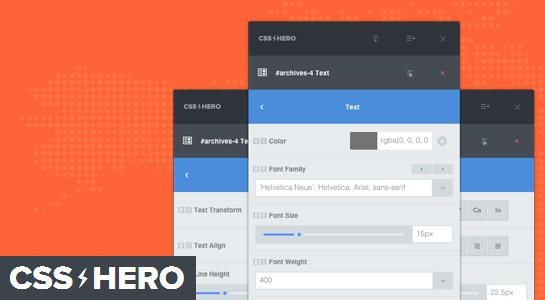 افزونه حرفهای وردپرس CSS Hero