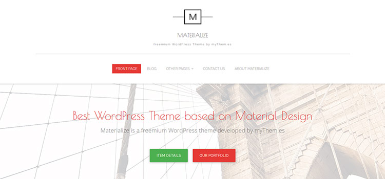 قالب متریال دیزاین وردپرسی Materialize