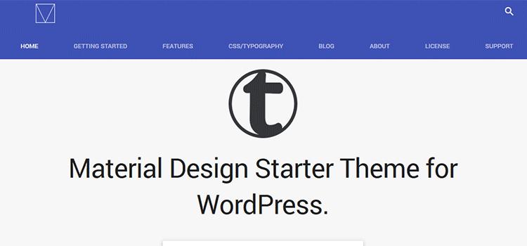 قالب متریال دیزاین وردپرسی Material Design Starter Theme